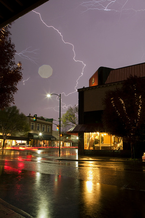 Lightning over downtown Walla Walla