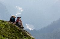 Hikers at Mt Rainier